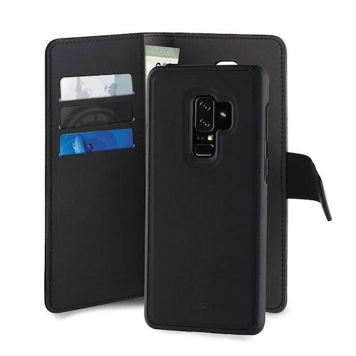 Puro Samsung Galaxy S9+, EcoLeather Wallet Detach, svart