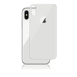 Panzer iPhone X, Curved Silicate Glass Back, Silver