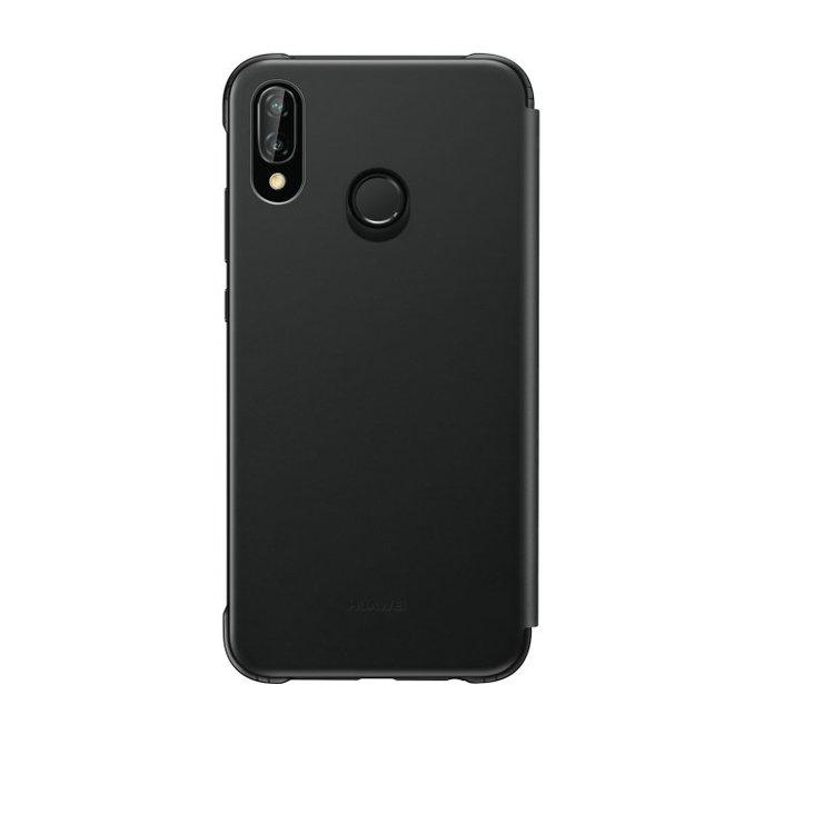 Huawei P20 Lite, Flip cover, Svart