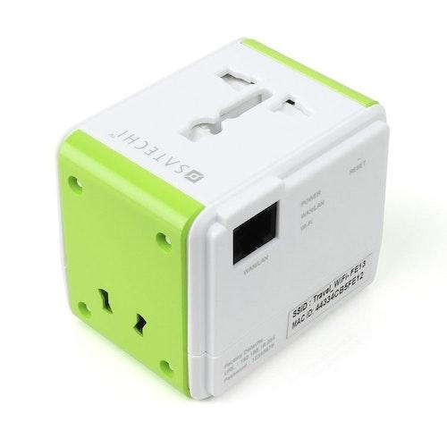 Satechi Smart Travel - Universal reseadapter med inbyggd router och USB-port
