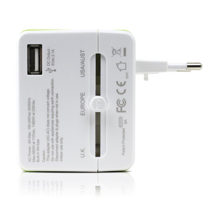 Satechi Smart Travel - Universal reseadapter med inbyggd router och USB-port