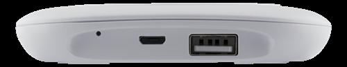DELTACO Trådlös laddare, Qi 1,2, 7,5W, LED, USB, vit