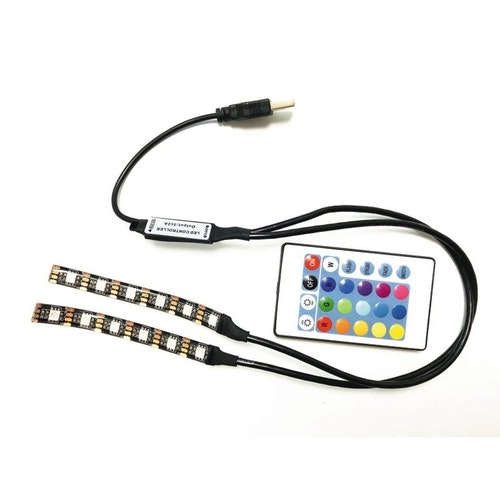 Belysning för gamingstolen LED-ljus med trådlös fjärr