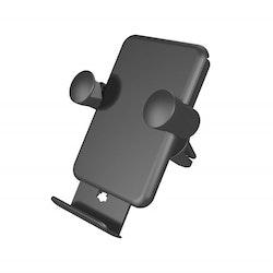 ZENS Billaddare och Hållare QI Trådlös USB-sladd 5W Svart Monteras i Fläktgaller