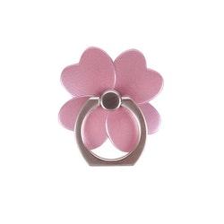 GEAR MobilRing Blomma Rosa Matt Roterande Fingerhållare med Ställfunktion