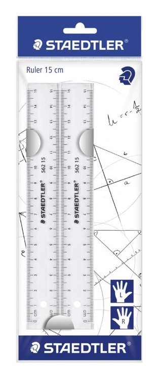 Linjal plast 15 cm (2st)
