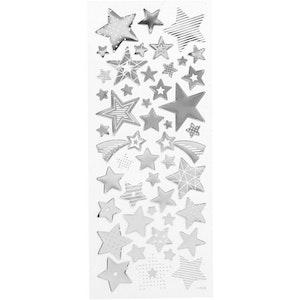 Stickers Silverstjärnor
