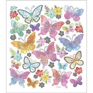 Stickers Fjärilar med silver