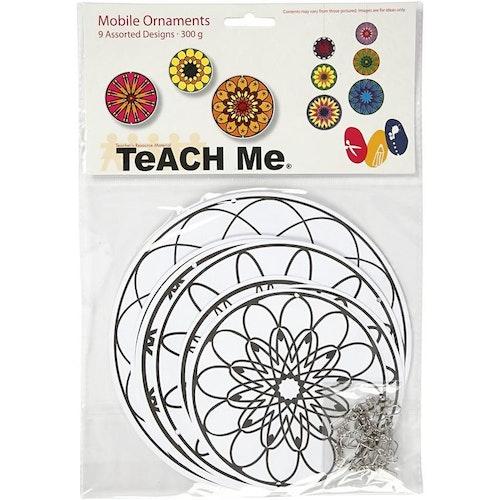 Mandala-mobil 3 set (9 st mandalas)