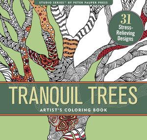 Tranquil Trees, målarbok