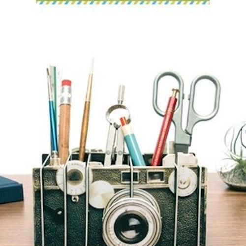 Pennställ Vintage camera