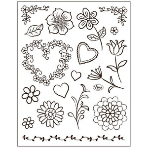 Clear stamps Blommor
