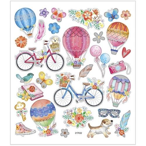 Sticker Cyklar och luftballonger