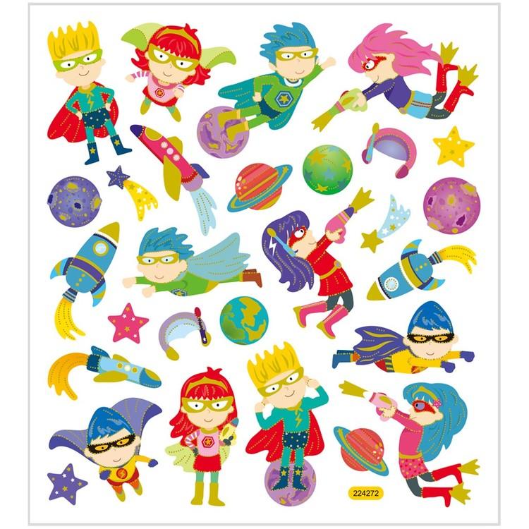 Stickers Superhjältar