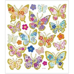 Stickers Blomsterfjärilar