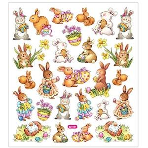 Stickers Påskharar