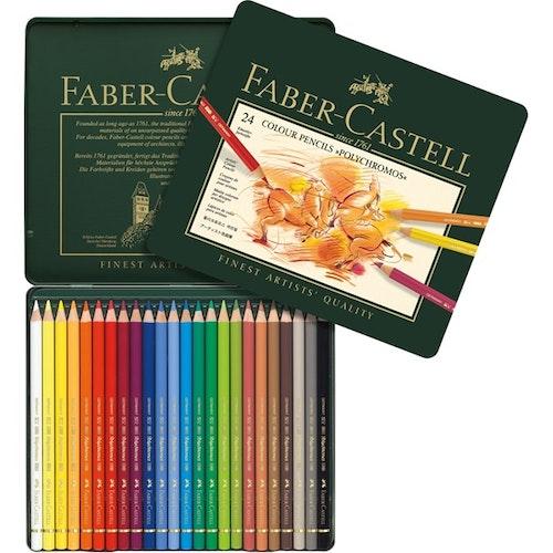 Polychromos Träfärgpennor 24-pack