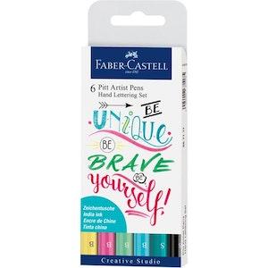 6 Pitt Artist Pens Hand Lettering Set Faber-Castell