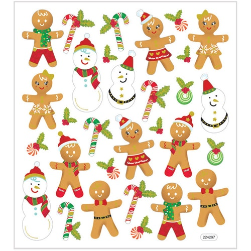 Stickers Pepparkaksfigurer