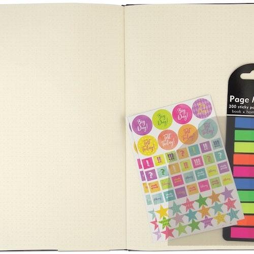 Självhäftande plastfickor till journals