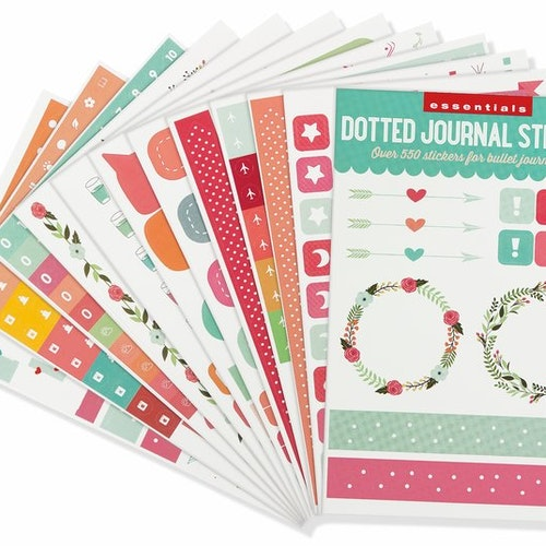 Dotted Journal Planner stickers