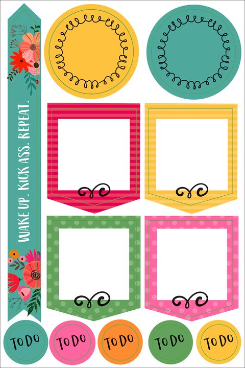 Borders and frames Planner stickers