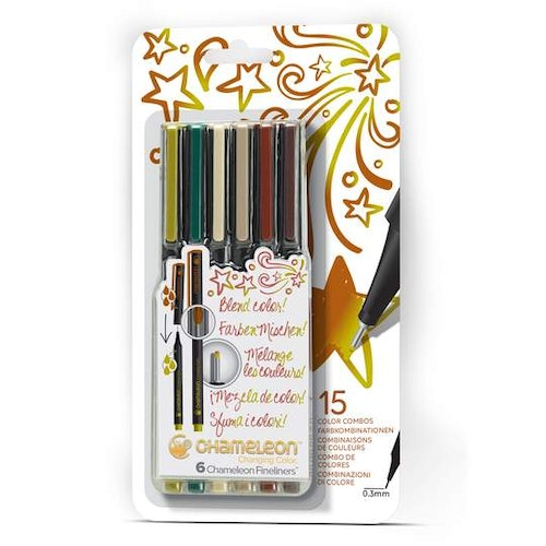 Chameleon Fineliners 6-pack Nature