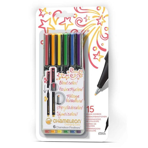 Chameleon Fineliners 6-pack Primary