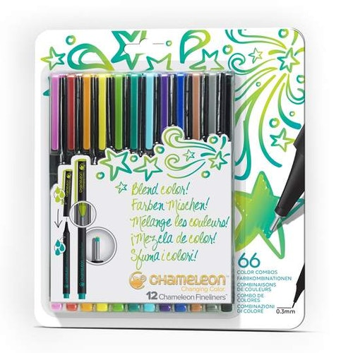 Chameleon Fineliners 12-pack Bright
