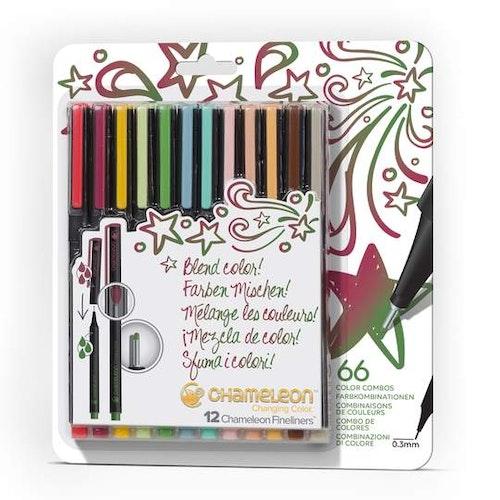 Chameleon Fineliners 12-pack Designer