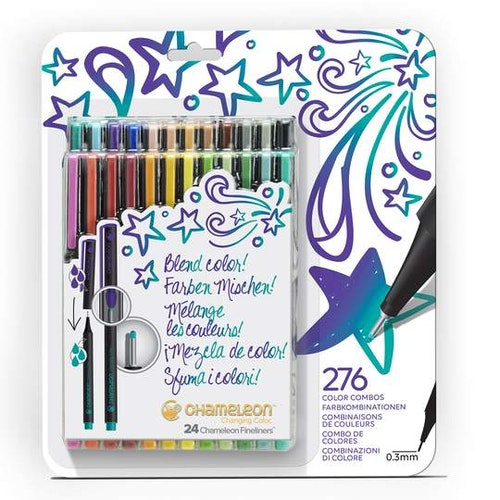 Chameleon Fineliners 24-pack Bold Colors