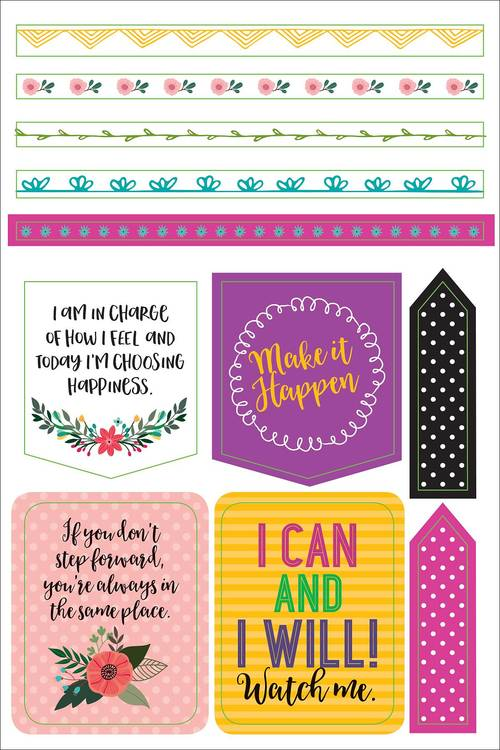Planner stickers - Wake up, Kick ass, Repeat