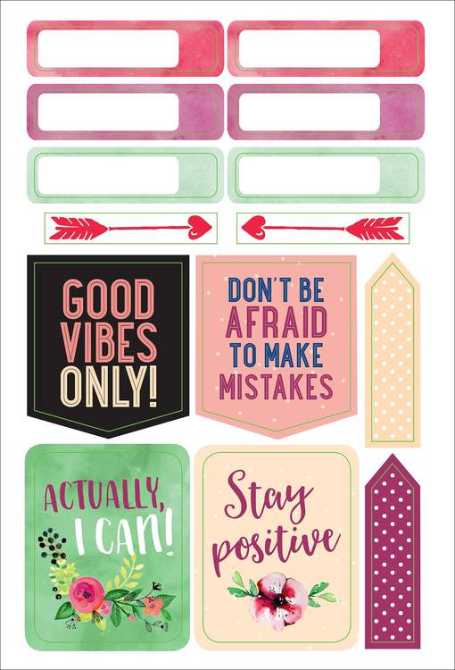 Planner stickers - She believed she could so she did