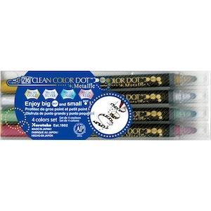 Zig Clean Color Dot Metallic 4-pack