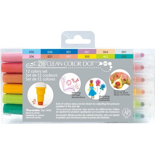 Zig Clean Color Dot 12-pack