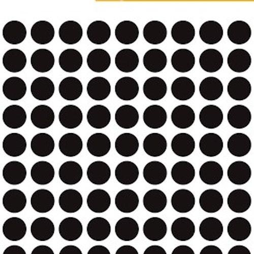 Svarta dot-etiketter 8 mm