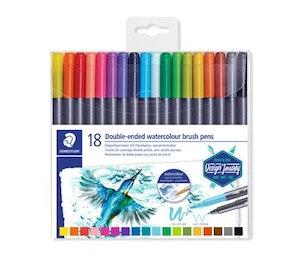 Watercolor brush pens 18-pack