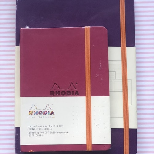 Paketpris Rhodia Goalbook Violet + Rhodia A6 Raspberry