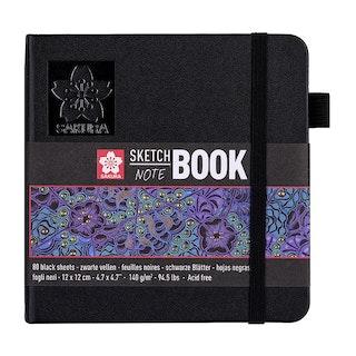 Sakura Sketch - Notebook 12*12 cm Black