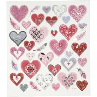 Stickers Hjärtan och fjädrar