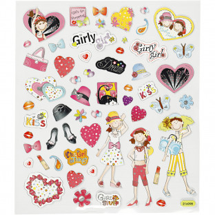 Stort stickers-paket 13 ark