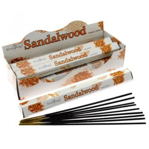 Sandalwood, Sandelträ, rökelse, Stamford Premium Hex