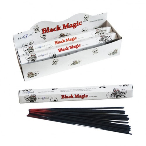 Black Magic, Svart Magi, rökelse, Stamford Premium Hex