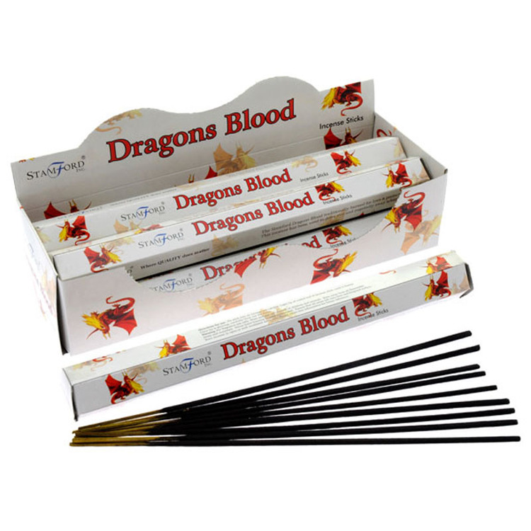 Dragons Blood, Drakblod, rökelse, Stamford Premium Hex