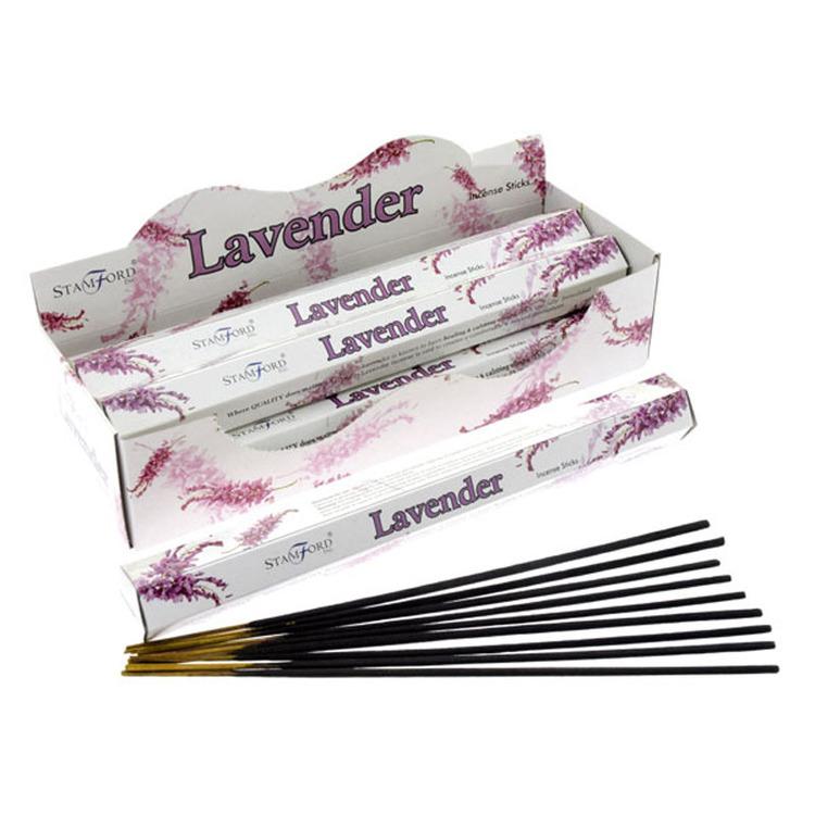 Lavendel, rökelse, Storpack, Stamford Premium Hex