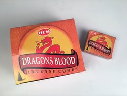 Dragons Blood, rökelsekoner, HEM