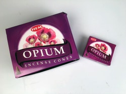 Opium, rökelsekoner, HEM