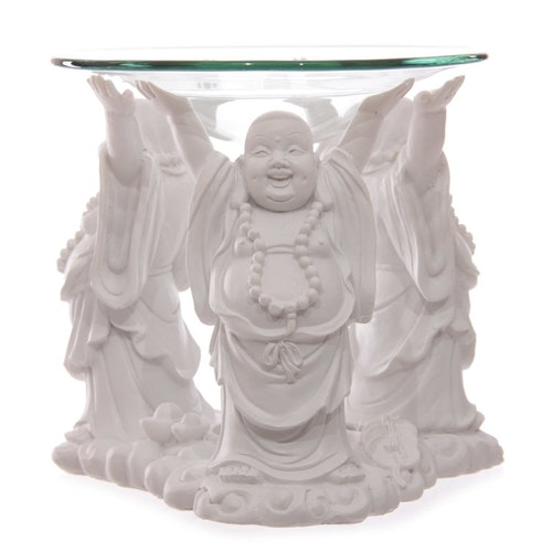 Skrattande Buddha, Vit