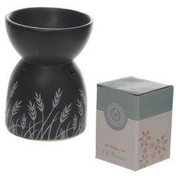 Gräs, keramisk Aromalampa, svart