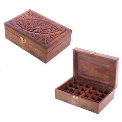 Låda för 24 Eteriska Oljor eller Parfymoljor